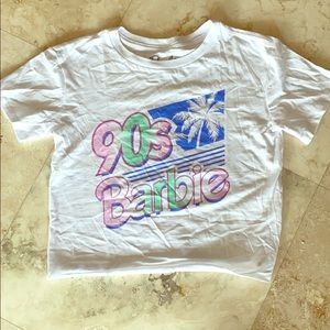 ⚡️FLASH SALE⚡️90s Barbie Cropped Graphic Tee
